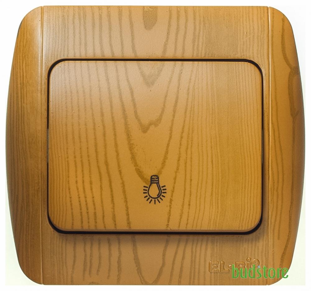Выключатель кнопочный El-Bi ZIRVE (Ель-Би Зирв) ольха 501-010701-205