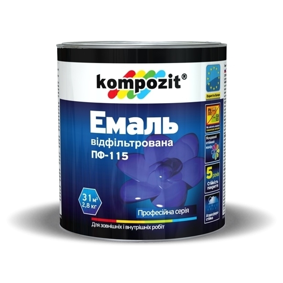 эмаль пф 115 черная 25 кг